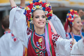 Slavic folk dancer