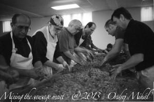 St Pauls Men Making Sausages Nov 2013 B