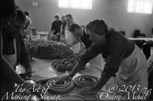 St Pauls Men Making Sausages Nov 2013