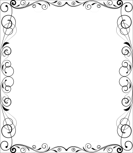 Simple pretty border for notes or invitations