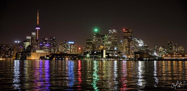 Toronto Skyline at Night (photo by Ondrej Mihal)