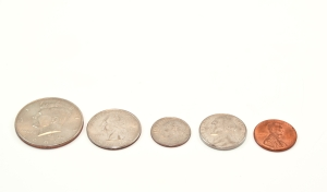 Sorting coins by size